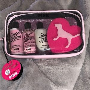 PINK Travel pack coconut oil body care